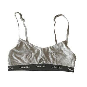 Calvin Klein Small Cotton Bralette/Crop Top